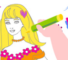 Colorir e Pintar Barbie